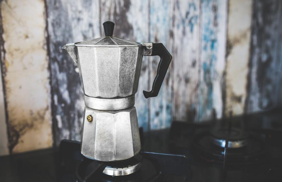 Mokapot for coffee on the stovetop