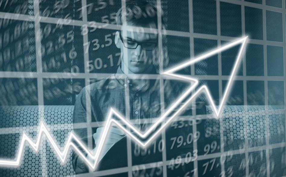 A man observing stock market
